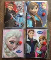 Wholesale Hot sale Frozen Book Notebook with a Pen Student Diary Frozen Elsa Frozen Anna Book Student Notepad CM