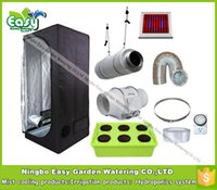 Wholesale Hydropoinics Complete indoor grow tent kits x80x160cm with DWC bucket LED grow light and ventilation equipment