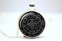 american alloy wheels - 10pcs Pagan Wheel of the Year Necklace Pagan Pendant Glass Photo Cabochon Necklace