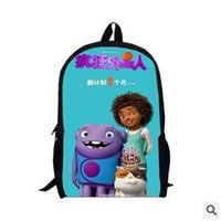aliens cartoon characters - 100pcs LJJC2077 Hot Fashion Cartoon Home Crazy Alien Backpack Baby School Shoulder Bags Cute OH Children Backpacks Small Plush Backpack