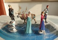 Wholesale Hot Retail Frozen Figure Play Set Toys Gift Princess Anna Elsa Figure Set Movie Princess Doll Movies Video Game Cartoon BO6910