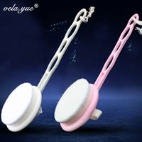 Wholesale Deep Pore Clean Full Body Beauty Brush Dismountable Long Handle Bath Brush Pink White