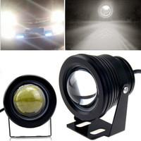 Wholesale 2Pcs High Power W Car Fog Lights HeadLights CREE COB LED Fountain Pool Bull Eye Lamp CARS0642