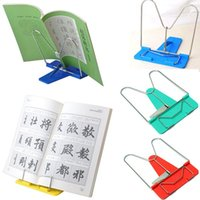 Wholesale Adjustable Durable Angle Foldable Portable Reading Book Stand Document Holder Desk Dormitory Necessary