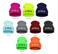 beanies new look - Colors Fashion BAD HAIR DAY Fluorescent Knitted Hat Soft Elastic Beanie New For Women Men Ski Winter Novelty Look