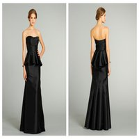 accent corsets - 2016 NewTrumpet Bridesmaid Gowns with a Strapless Soft Scoop Neckline Bodice is Accented with Corset Seaming Natural Waist and Peplum