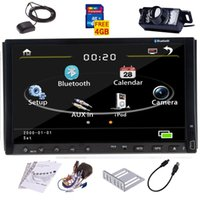 Wholesale 3G Internet Camera two Din quot inch Car DVD player with GPS navigation map audio Radio stereo Bluetooth TV AUX IN DASH digital touch screen