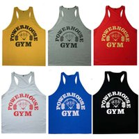 active housing - Power House Gym Under Shirts for Men Loose Sleeveless Sports Tank Tops Best Cool Pure Cotton Tank Tops Hot Sale