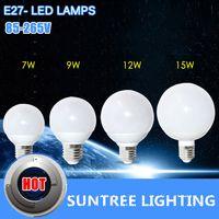 Wholesale Led Corn Globe - E27 Ultrabright Led Light 85-265V 5730 SMD Lamps Ball Bulb 7W 9W 12W 15W Corn Chandelier Lighting 1Pcs Lot