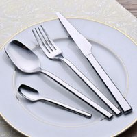 Metal flatware - Hot Sale Pieces Hight Quality Stainless Steel Flatware Sets Cutlery Set Tableware Silverware Dinner Dinner Knife Spoon Fork