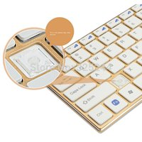 aluminum thin film - G Gold Wireless Ultra Thin Aluminum Alloy Silent Keyboard Mouse Keypad Film Kit For DESKTOP Laptop Tracking No