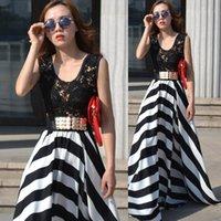 Cheap Stripe Dress Best Women Summer Maxi Dress