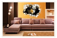 Wholesale HOt Kung Fu Panda trade Poqiang stereoscopic D children s room nursery wall stickers decorative wall stickers