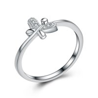 Wholesale FGJL silver jewelry tiny butterfly design sterling silver ring Guangzhou high quality silver jewelry market competitive prices