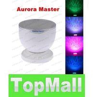 Wholesale Mini Portable Romantic Aurora Master Colorful LED Light Projectors Speakers Ocean Wave Rainbow Projector Speaker Lamp LLFA96