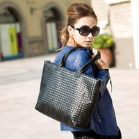 large handbags - New colors Hot Selling Women PU Leather Handbag Tote Shoulder Bags large capacity PU weave bags fashion design