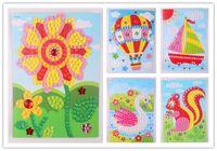 Wholesale 10pcs Mosaic Puzzle Art Crafts Children cm DIY D Mosaic Stickers Kits for Kids Educational Toys