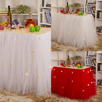 Cheap Table Decoration for Weddings Best Tulle Table Skirt Tutu