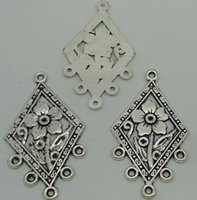 Wholesale A2761 earring connector pc bag grams x29mm ancient silver alloy jewelry accessories