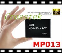 Wholesale Mini Full HD P Media Player with HDMI AV USB SD MMC Black