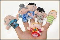 Wholesale 2015 hot different member of family soft plush Puppet toys kids gift finger dolls baby stuffed finger toys J071003