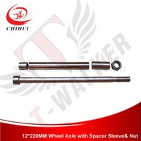 axle sleeve - High Quality mm Gas amp Electric Scooter Wheel Axle with Spacer Sleeve T Walker Scooter Parts