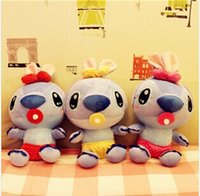 Wholesale 20CM inch Price New Fashion Cute Baby Pacifier Stitch Plush Doll Toys Children s Toy Holiday Gifts