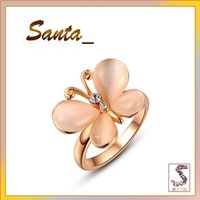 Cheap Wedding Rings Diamond Ring Rose Gold Opals Butterfly Ring Charms Rings,Trendy Jewelry Valentine's day 2010508210b Wedding Gift