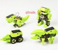 Wholesale 288 BBA5461 In solar robot Environmental Science Series toys Assembly Rechargeable Solar Power Robot Kit Toy Kids birthday Gift Present