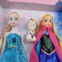 Educational Supplies - High Quality Frozen Anna Elsa olaf Toys Princess dolls Inch Nice Gift For Kids Girls Spot supply