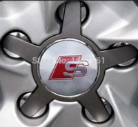 Wholesale Car styling S line Wheel Center Caps Badge for A u d i A4 A6 Q5 Q7 A3 A1 Wheel Centre Hub Cap
