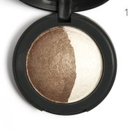 baking textures - MYBOON Charm Bunn Baked Eyeshadow Two Shade in a Palette Baked Eye Shadow Ultra fine Mineral Texture Color Cosmetics B06