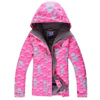 Wholesale 2015 gsou snow womens skiing jacket female pink ski snowboarding jacket skiwear winter sports jacket mouintaineering jacket waterproof K