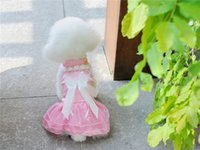 Wholesale B41 Dog Summer satin wedding Dress Summer beautiful dog Clothing sweet summer dog dress