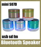 blue tooth - mini bluetooth speaker S07D hi fi speaker blue tooth speaker super bass portable speaker with speaker cable led light tf card slot MIS013