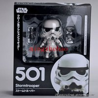 2016 nouvelle arrivée, Nendoroid Star Wars Stormtrooper # 501 Darth Vader # 502 action PVC Figure Toy Doll 4