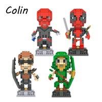 Wholesale 50pcs HSANHE D Marvel Avenger Super hero Deadpool Nano Plastic Block Gift Educational Toy WJ308