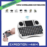 Wholesale I8 MINI WIRELESS KEYBOARD G RII Fly Air Mouse QWERTY Keyboard Mouse Touchpad for PC Notebook Android TV Box HTPC Black Original