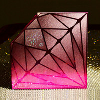 Wholesale Folded Creativie Wedding Invitations Cristal and Jewel Style Purple and Red Wedding Invitaton Cards New Design