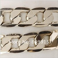 14kt gold chain - 2yard Bulk Chain KT Gold Plated Beveled Curb Link C0697