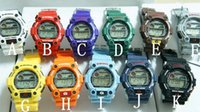 Wholesale Black G Watch jelly Shocking Sports Watches G7900 Digital Wristwatches colors