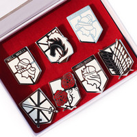 free shipping anime - High quality Anime Attack On Titan Badges Metal Toy Pendant toy set cm