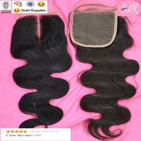 hair products wholesale - Products For Hairdressers Body Wave Brazilian Hair Top Lace Closure Human Hair Closure Piece