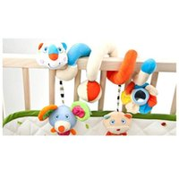 Wholesale Multifunctional Baby Bed Plush Cartoon Toy Kid Pram Crib Ornament Hangings months educational