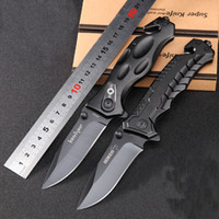 Wholesale 2017 NEW BOKER black pocket folding knife Tactical Knives outdoor survival camping knife C blade High quality cm