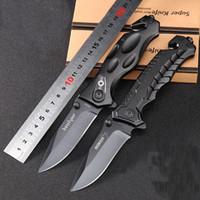 Revisiones Boker knife-2017 ¡NUEVO !! Cuchillo que acampa del cuchillo 440C de la supervivencia al aire libre de los cuchillos tácticos del cuchillo del bolsillo negro del bolsillo de BOKER Alta calidad los 20.5cm