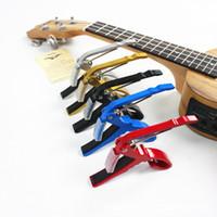 Wholesale Hot multicolor Quick Change Trigger Key Capo Acoustic Electric Guitar Clamp