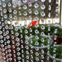 Wholesale meter crystal bead curtain upholstery curtain transparent glass beads high end accessories