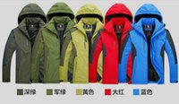 Wholesale Outdoor Sports Jacket Clothing Genuine Waterproof Windproof Climbers jersey men wear and casual wear Large clothes Three Size