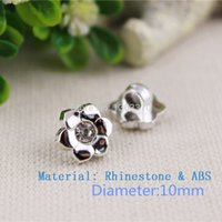 advanced decorative - Dia10mm Advanced Acryl button with Rhinestone Shirt Decorative buttons garment accessories DIY MKSZ012